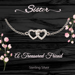 Sterling Silver Meaningful Jewelry Gift for Sisters–A Treasured Friend