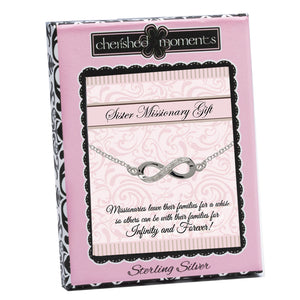 Load image into Gallery viewer, LDS Sister Missionary Infinity Necklace (SMN-19)