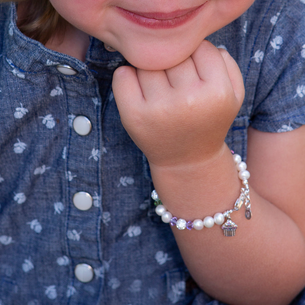 Load image into Gallery viewer, Sweet Cupcake (Multi) - Sterling Silver Cupcake Bracelet