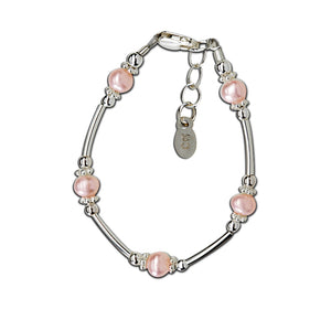 Load image into Gallery viewer, Sterling Silver Pink Pearl Bracelet (TC-Adeline)