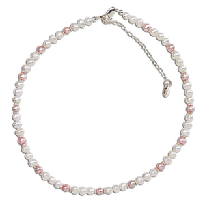 Sterling Silver Pink Pearl Necklace (TCBN-Miranda)