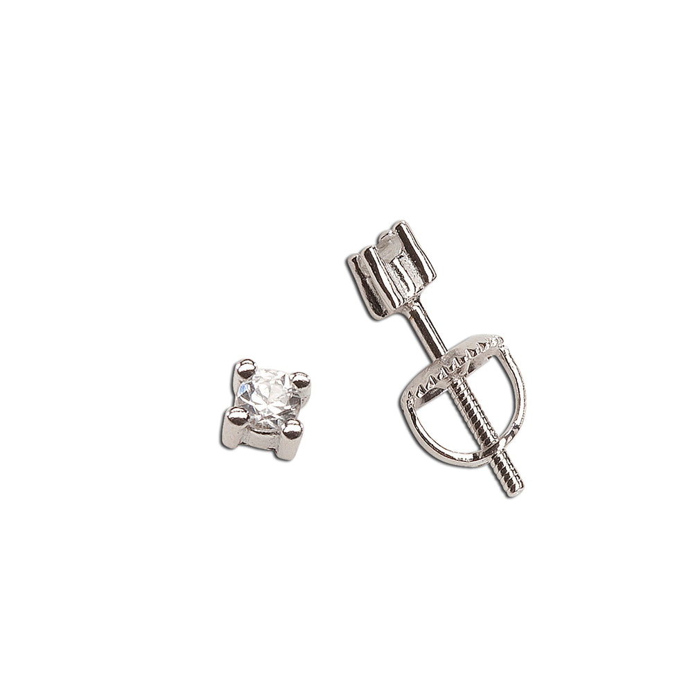Load image into Gallery viewer, Sterling Silver White Sapphire Earrings (TCE-White Sapphire)