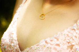 Load image into Gallery viewer, Quinceañera Heart Necklace (TC-Q15-Heart)