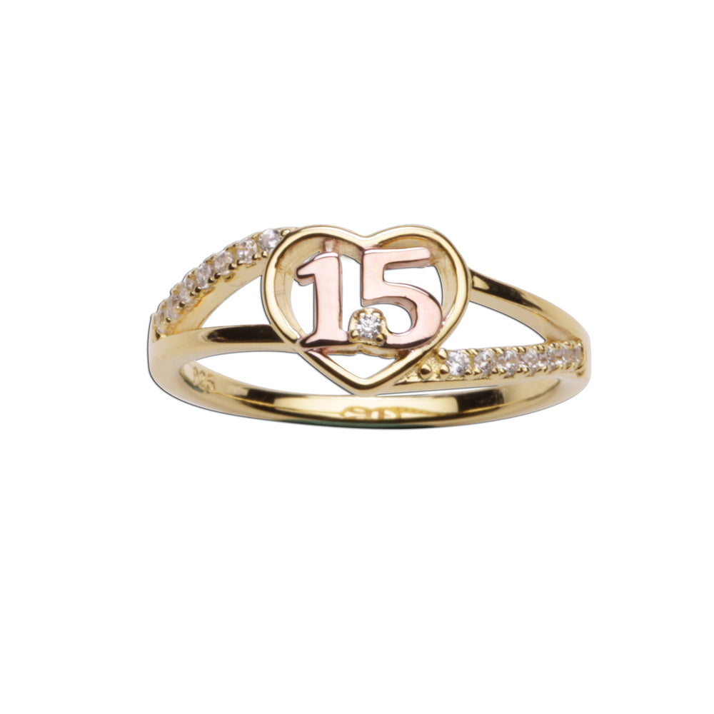 Quinceañera Heart Ring (TCR-Q15-Heart)