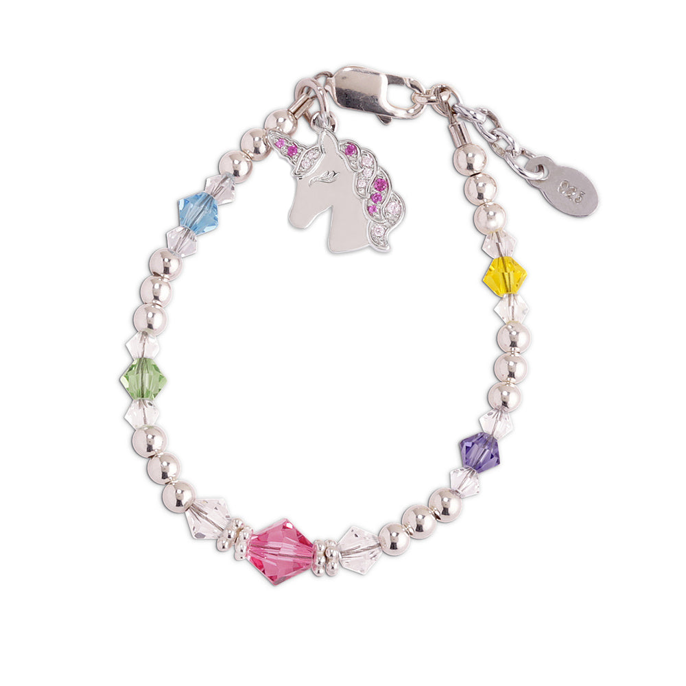 Unicorn (Rainbow) - Sterling Silver Unicorn Bracelet