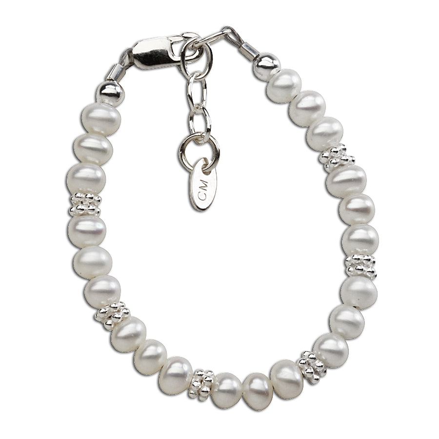 Victoria - Sterling Silver Pearl Bracelet