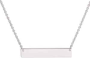 Load image into Gallery viewer, Sterling Silver Children's or Women's Bar Necklace (BCN-HBar)