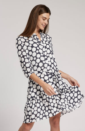 PETRA POLKA DOT DRESS - NAVY/WHITE DOTS TylerBoe 0 NAVY/WHITE DOTS
