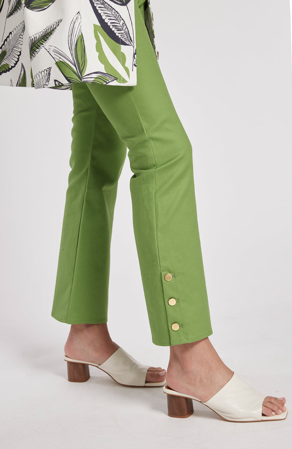 TOMMY SATEEN CROPPED PANT - LIME GREEN TylerBoe 0 LIME GREEN