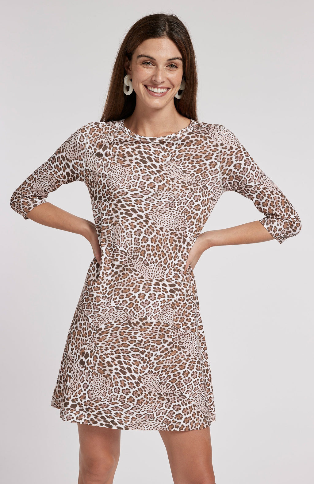 ALEXA LEOPARD PRINT DRESS - BROWN LEOPARD TylerBoe XS BROWN LEOPARD