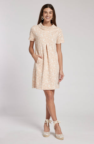KRISTEN JACQUARD DRESS - CAW TylerBoe