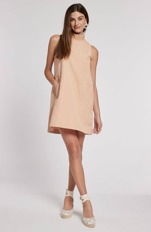 STELLA LINEN COTTON DRESS - ADOBE PINK TylerBoe