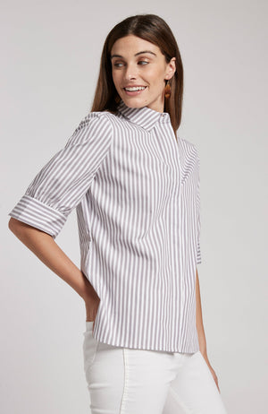 BONNIE STRIPED SHIRT - COFFEE BEAN TylerBoe