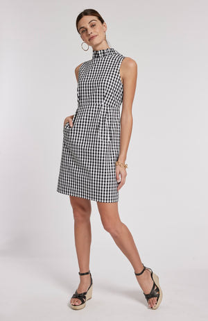 ERICA GINGHAM DRESS - BLACK