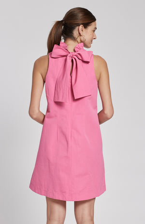 STELLA LINEN COTTON DRESS - PEONY