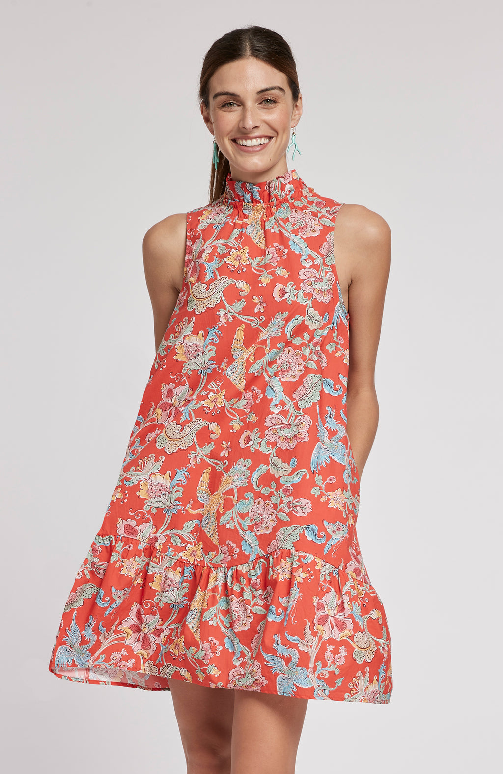 POPPY CHINOISERIE DRESS - MULTI CHINOISERIE