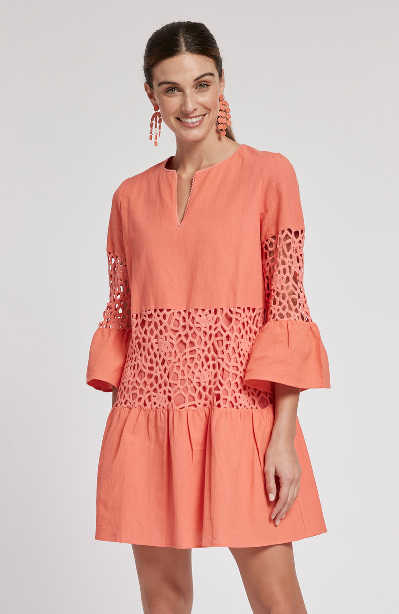 IZZY DRESS - LIGHT POPPY