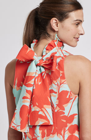 STELLA TROPICAL FLORAL DRESS - MULTI TROPICAL FLORAL