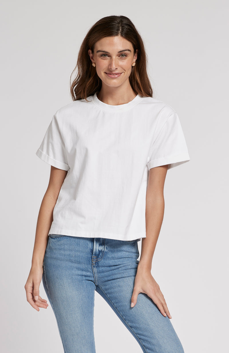 DEVON CROPPED TEE - WHITE