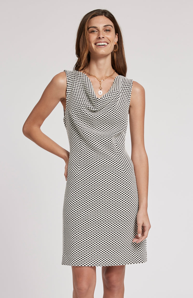 GENEVIVE JACQUARD DRESS - MDB