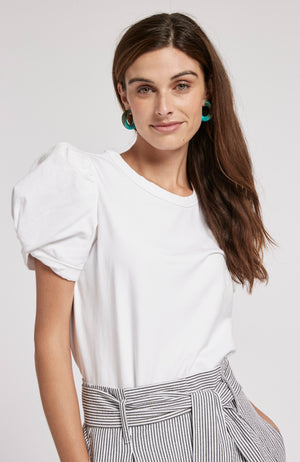 KARI PUFF SLEEVE TEE - WHITE