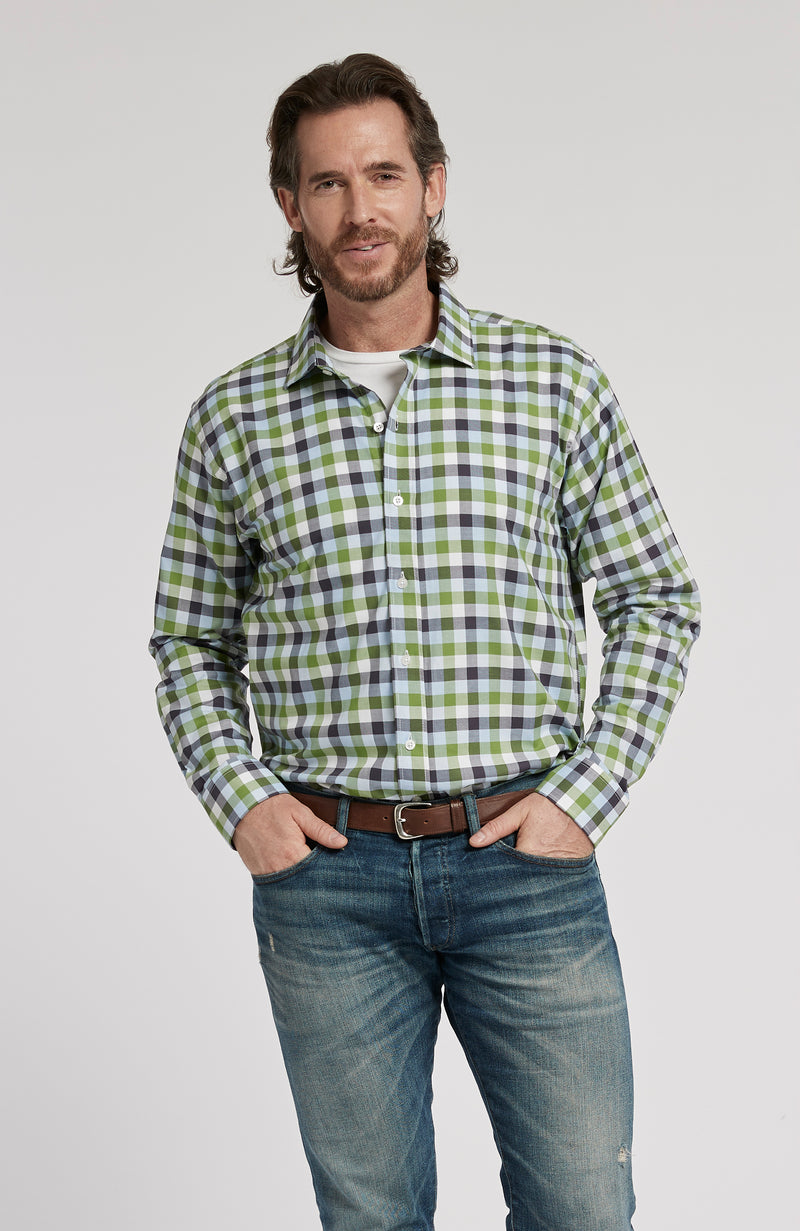 AMHERST CHECK LONG SLEEVE SHIRT - MULTI CHECK