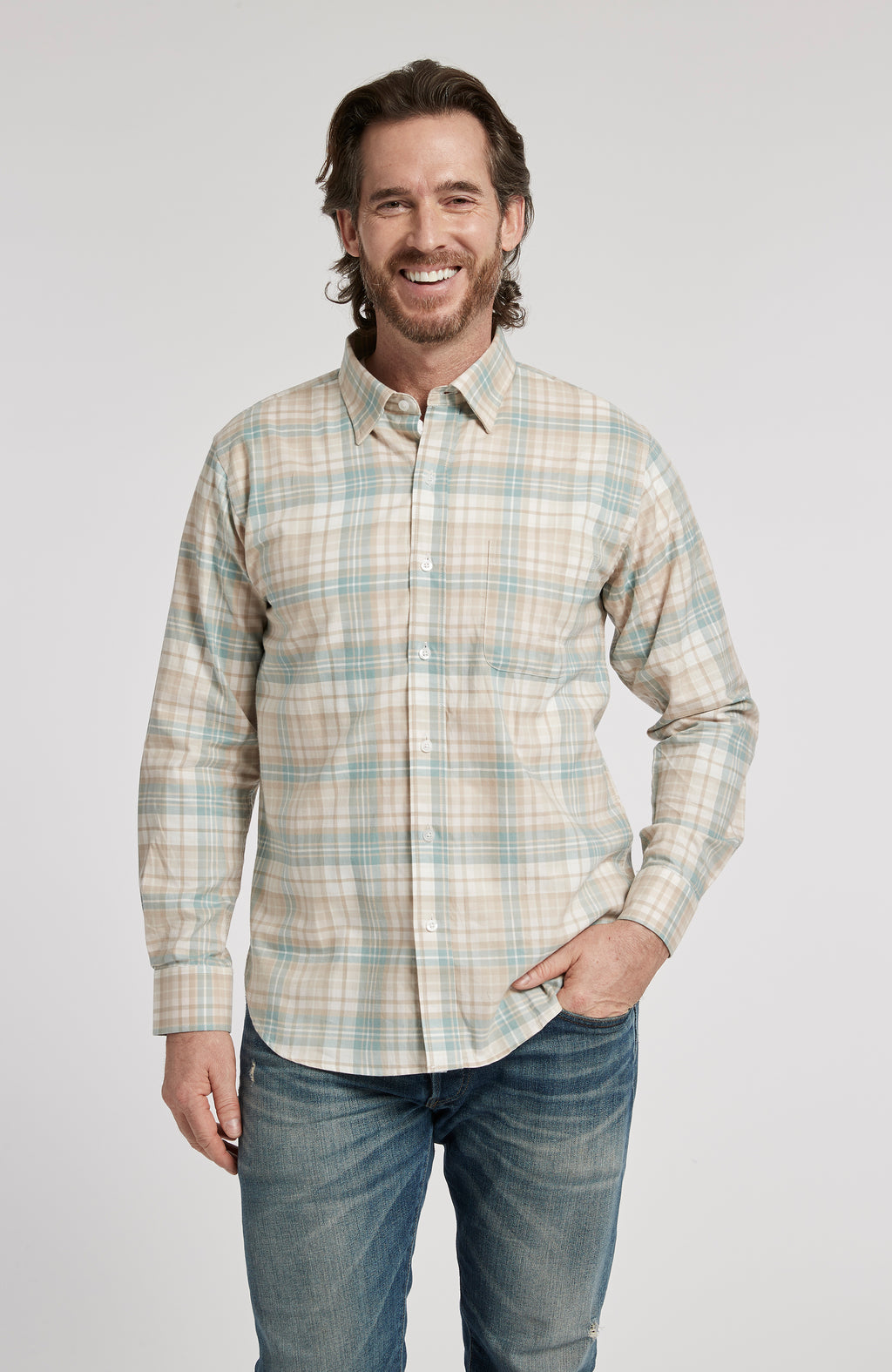 SOMERVILLE PLAID LONG SLEEVE SHIRT - MULTI PLAID