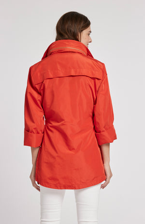 NEWPORT RAIN SLICKER - LAVA RED