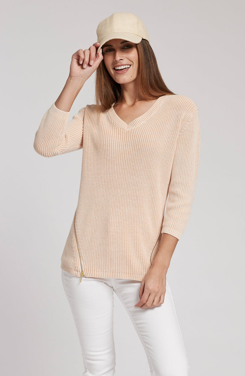 MINERAL WASH SHAKER SWEATER - ADOBE PINK TylerBoe XS ADOBE PINK