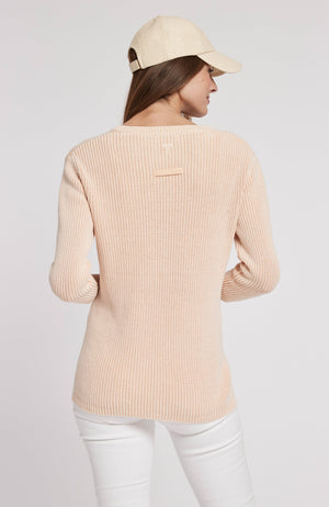 MINERAL WASH SHAKER SWEATER - ADOBE PINK TylerBoe