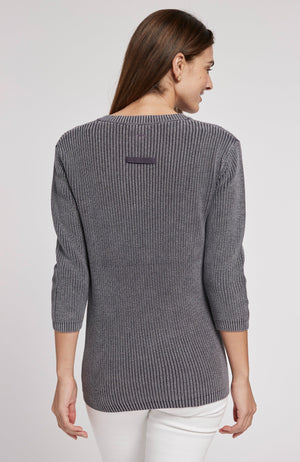 MINERAL WASH SHAKER SWEATER - AMERICAN NAVY TylerBoe