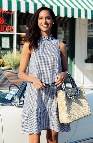 POPPY GINGHAM DRESS - BLACK