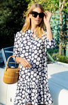 PETRA POLKA DOT DRESS - NAVY/WHITE DOTS TylerBoe