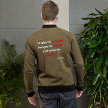 Load image into Gallery viewer, Men's Custom Jon Weberg Bomber Jacket: Small Logo & Quote
