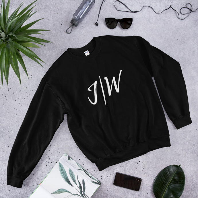 Unisex Custom Jon Weberg Sweatshirt: Big Logo & Quote