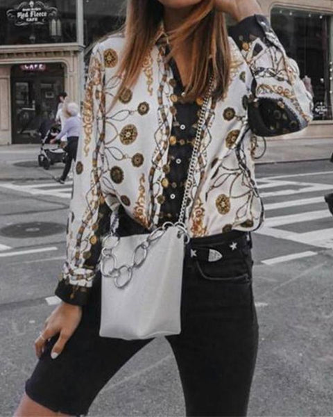 Fashionnia-Autumn And Winter   Fashion Printing Long-Sleeved Shirt