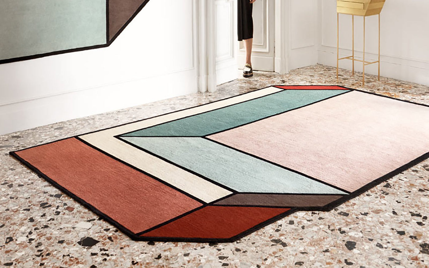 collaborate rugs rug with hero blueandbrown bamboo design architecture projects designer