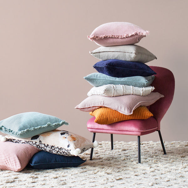 Cushions in a range of colours and styles