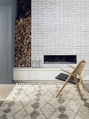Natural & Shale Berber Knot Zulu - Armadillo Floor Rug starting from $460.00 with FREE DELIVERY
