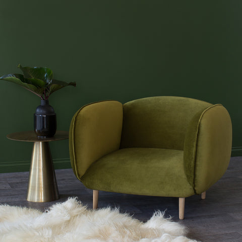 Mellow Chair in chartreuse when less is more