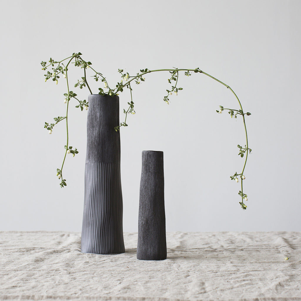 Black Vases Hand-Crafted Curious Grace