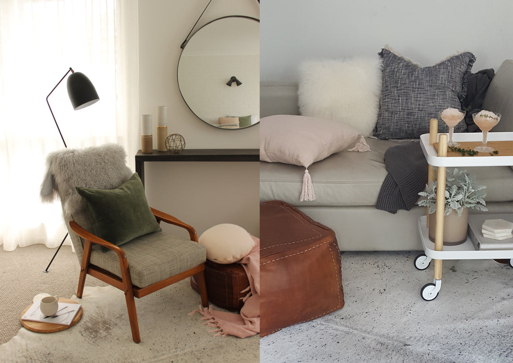 Danish Design Chairs Fluffy Pillows Natural