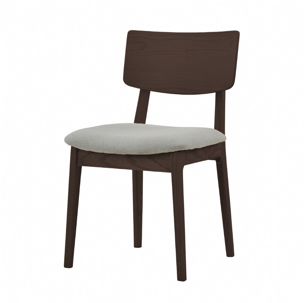 NOFU 597 Dining Chair - Dust Grey/Walnut