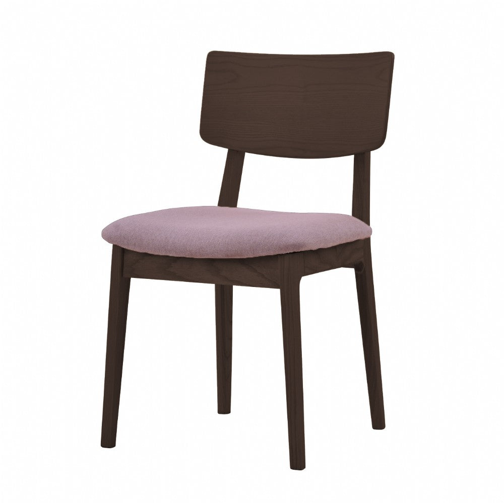 NOFU 597 Dining Chair - Pink/Walnut