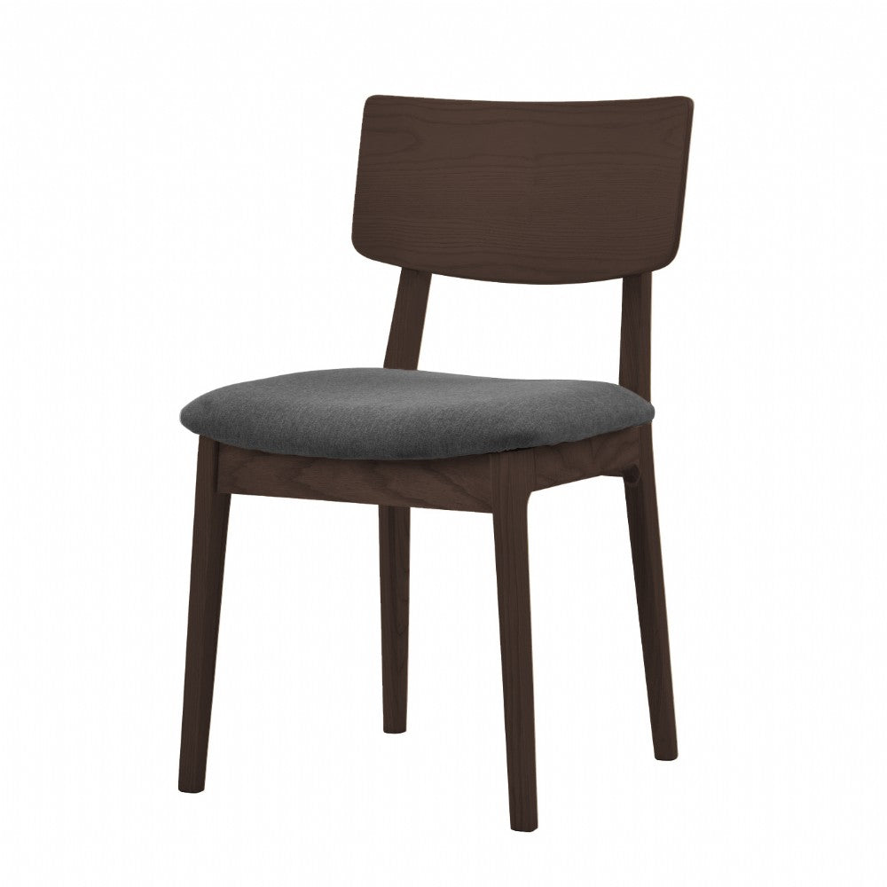 NOFU 597 Dining Chair - Slate Grey/Walnut