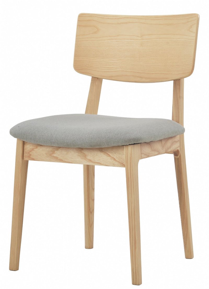 NOFU 597 Dining Chair - Dust Grey/Natural Ash