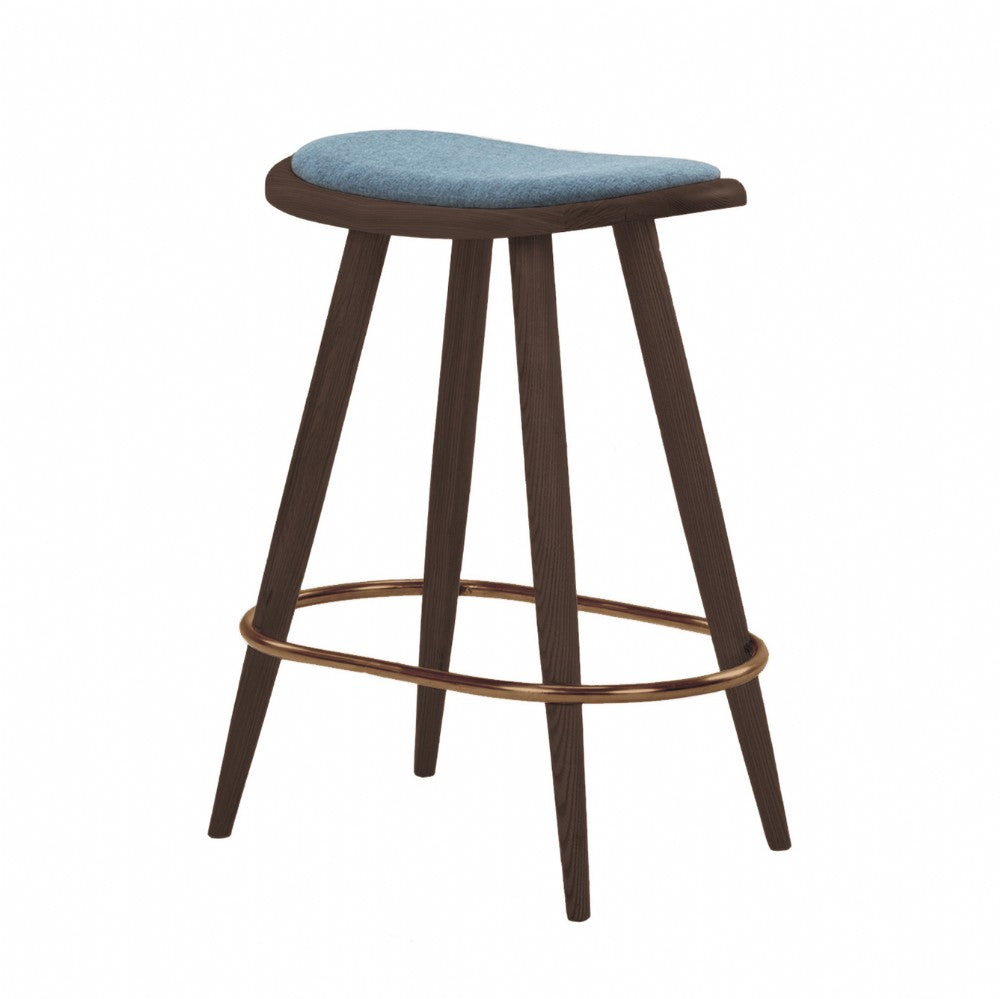 NOFU 646 Bar Stool - Blue/Walnut