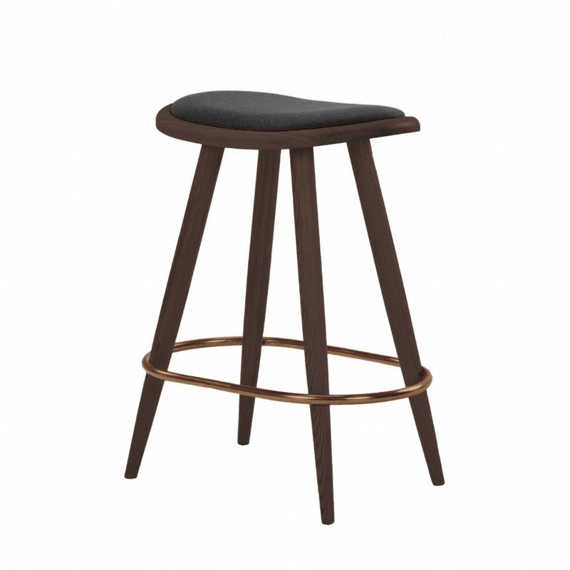 NOFU 646 Bar Stool - Black/Walnut