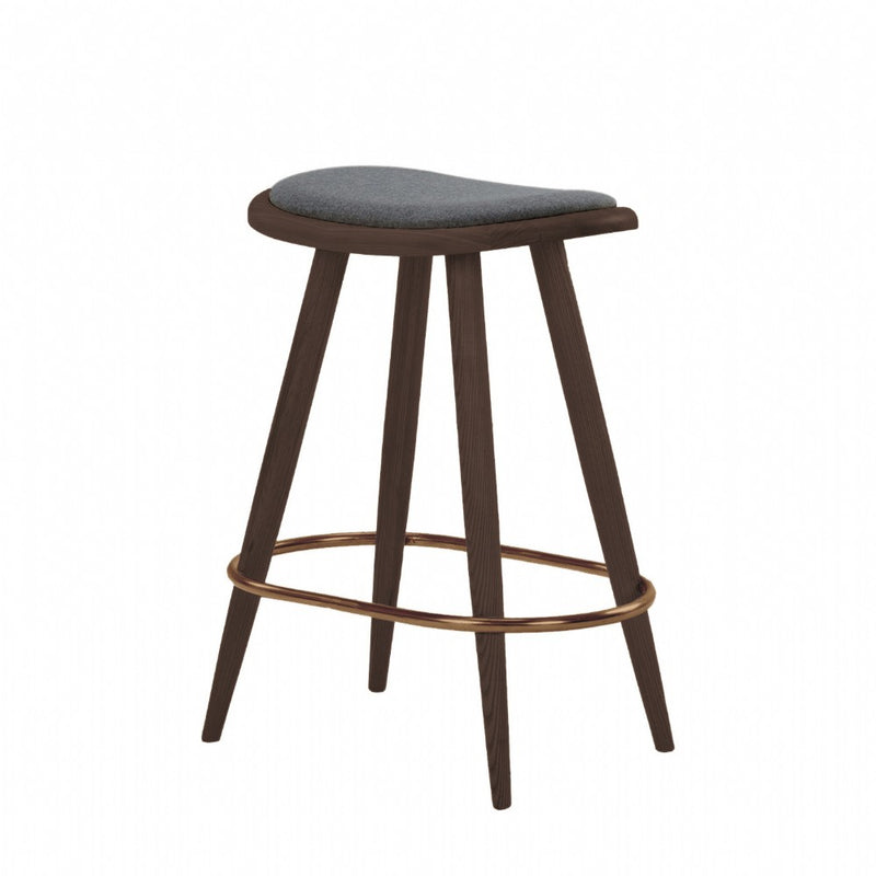 NOFU 646 Bar Stool - Slate Grey/Walnut