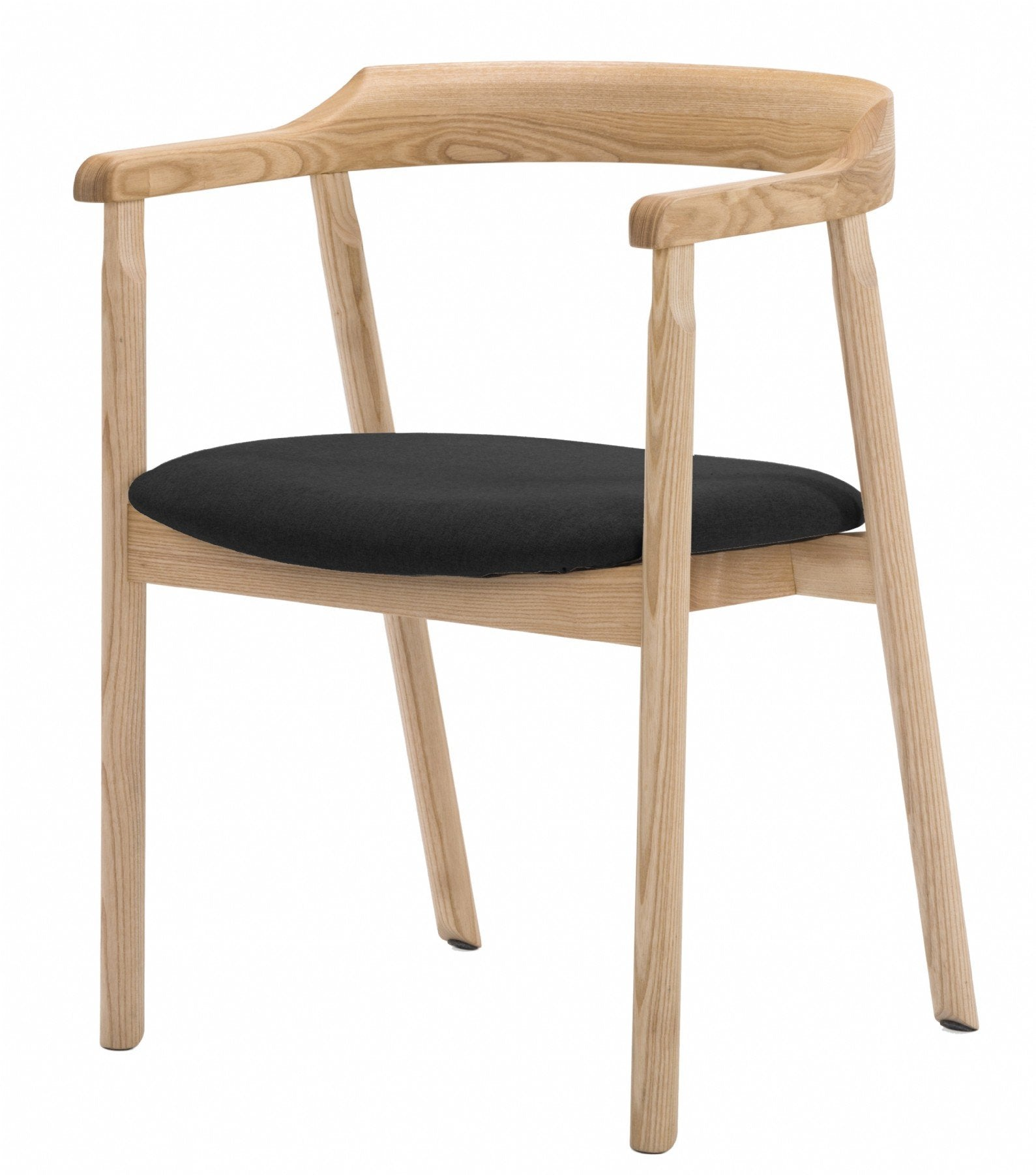 NOFU 737 Dining Chair - Black/Natural Ash